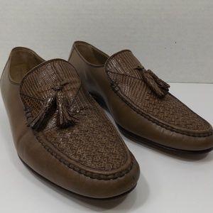 Bruno Magli Italian Handmade with Weave Mens Shoes